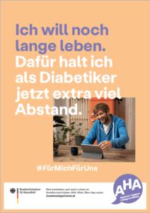 """Plakat Corona: """"Extra viel Abstand!"""""""